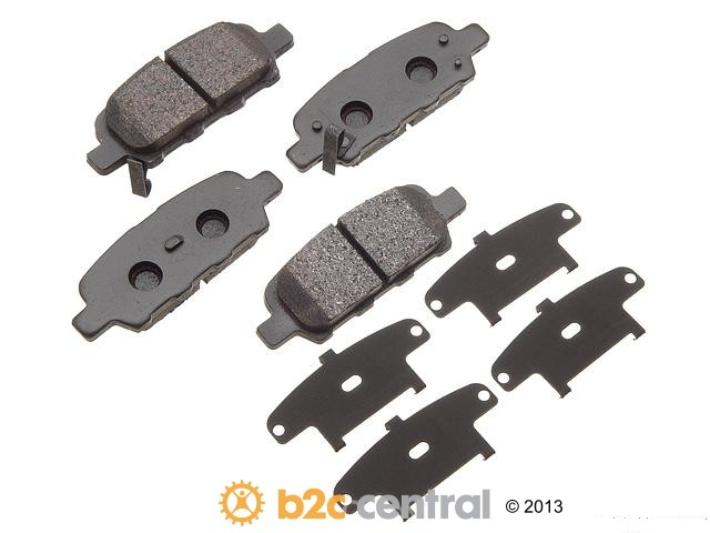FBS - Akebono PRO-ACT Ultra-Premium Brake Pad Set Ceramic (Rear) - B2C W0133-1615501-AKE