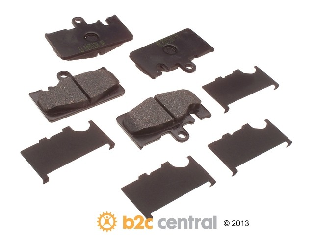 FBS - Akebono PRO-ACT Ultra-Premium Brake Pad Set Ceramic (Rear) - B2C W0133-1615633-AKE