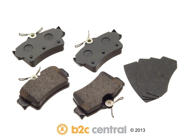 FBS - Akebono PRO-ACT Ultra-Premium OE Brake Pad Set Ceramic (Rear) - B2C W0133-1615995-AKE