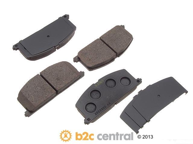 FBS - Akebono PRO-ACT Ultra-Premium Brake Pad Set Ceramic (Front) - B2C W0133-1616318-AKE