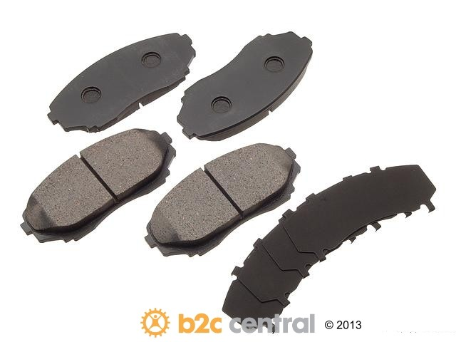 FBS - Akebono Premium Brake Pad Set NLA - 7/14 (Front) - B2C W0133-1616328-AKE