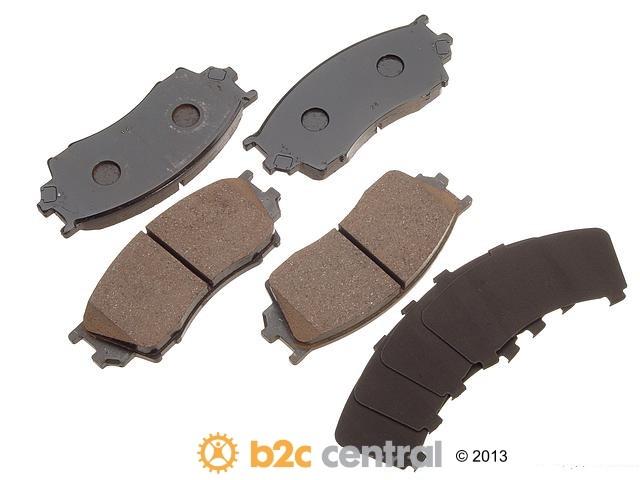 FBS - Akebono Premium Brake Pad Set NLA - 2/15 (Front) - B2C W0133-1616431-AKE