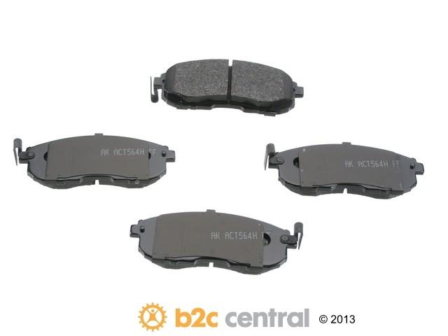 FBS - Akebono PRO-ACT Ultra-Premium Brake Pad Set Ceramic (Front) - B2C W0133-1616480-AKE