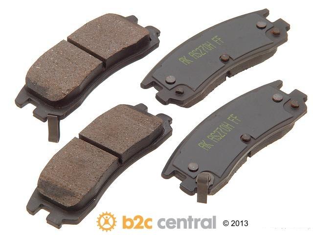 FBS - Akebono PRO-ACT Ultra-Premium Brake Pad Set Ceramic (Rear) - B2C W0133-1617080-AKE