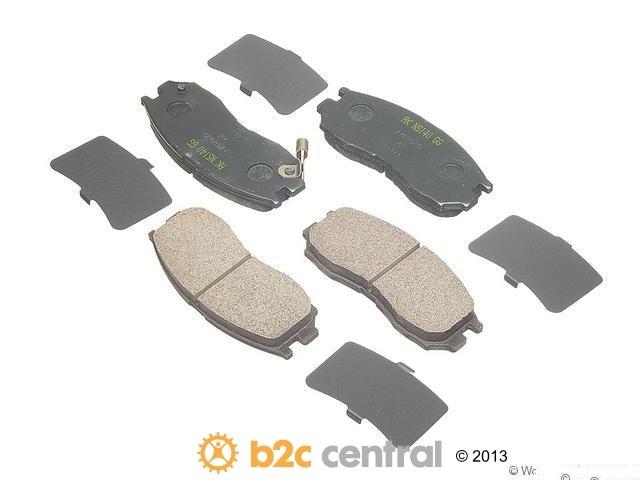 FBS - Akebono Premium Brake Pad Set NLA - 7/14 (Front) - B2C W0133-1617219-AKE