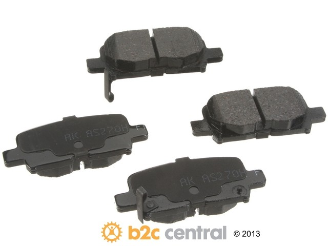 FBS - Akebono PRO-ACT Ultra-Premium Brake Pad Set Ceramic (Rear) - B2C W0133-1617227-AKE