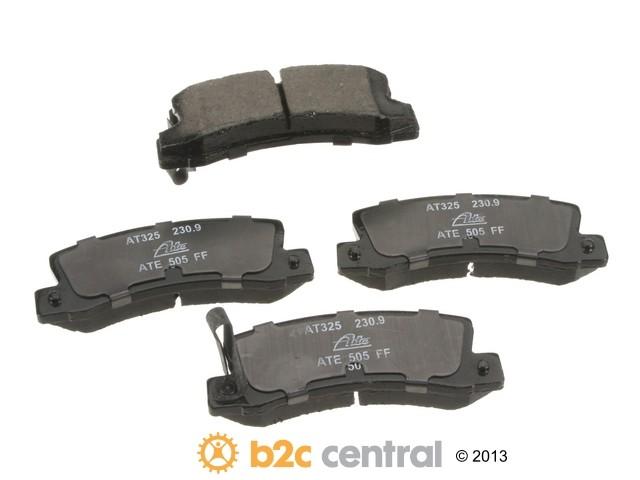 FBS - ATE Premium One Ceramic Brake Pad Set With Shims (Rear) - B2C W0133-1617256-APC