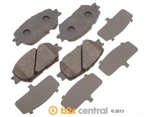 FBS - Akebono PRO-ACT Ultra-Premium Brake Pad Set Ceramic (Front) - B2C W0133-1617569-AKE