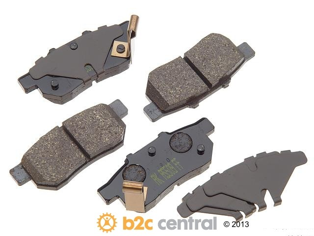 FBS - Akebono PRO-ACT Ultra-Premium Brake Pad Set Ceramic (Rear) - B2C W0133-1617694-AKE