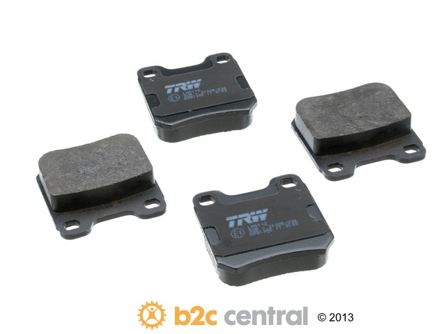 FBS - TRW OE Formulated Brake Pad Set With Shims (Rear) - B2C W0133-1617773-TRW