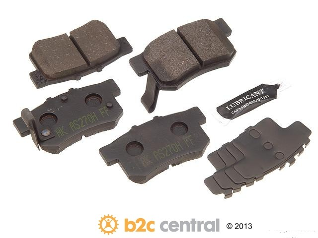 FBS - Akebono PRO-ACT Ultra-Premium Brake Pad Set Ceramic (Rear) - B2C W0133-1618298-AKE