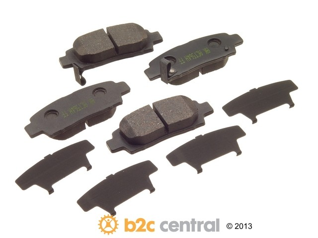 FBS - Akebono PRO-ACT Ultra-Premium OE Brake Pad Set Ceramic (Rear) - B2C W0133-1620199-AKE