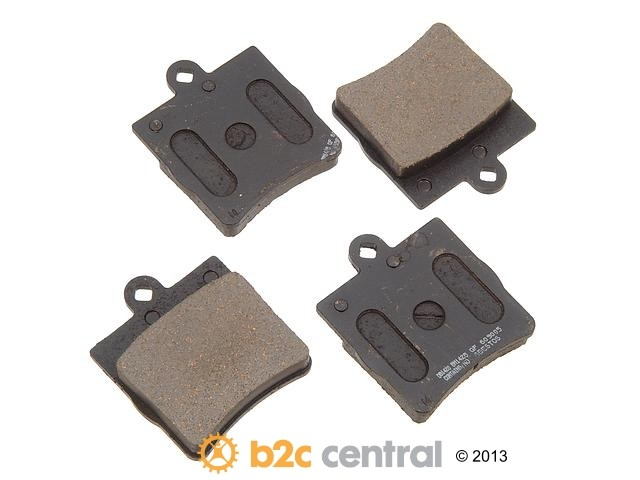 FBS - PBR Deluxe Brake Pad Set w/o Shims (Rear) - B2C W0133-1620530-PBR