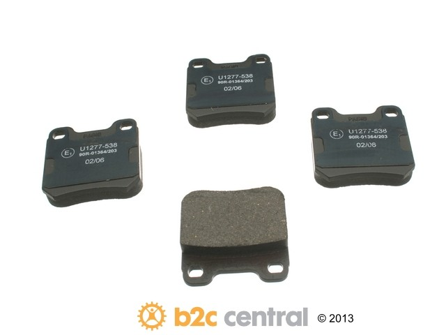 FBS - Pagid OE Formulated Brake Pad Set With Shims (Rear) - B2C W0133-1620894-PAG