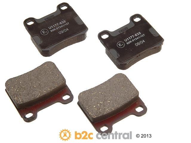 FBS - Pagid OE Formulated Brake Pad Set With Shims (Rear) - B2C W0133-1621578-PAG