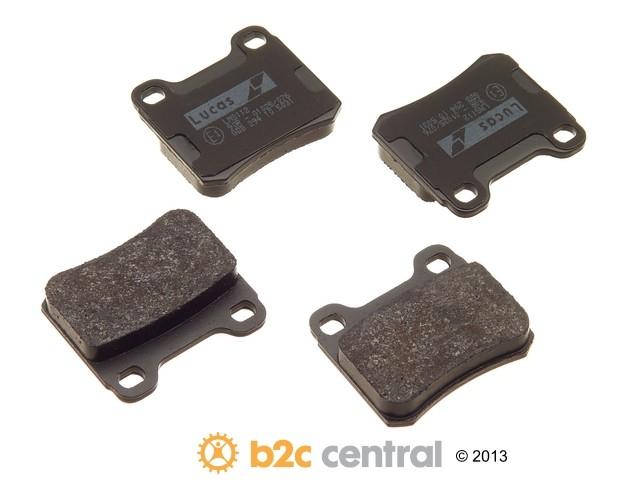 FBS - TRW OE Formulated Brake Pad Set With Shims (Rear) - B2C W0133-1622578-TRW