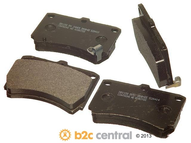 FBS - PBR XBG - Semi-Metallic Brake Pad Set w/o Shims (Front) - B2C W0133-1624949-PBR