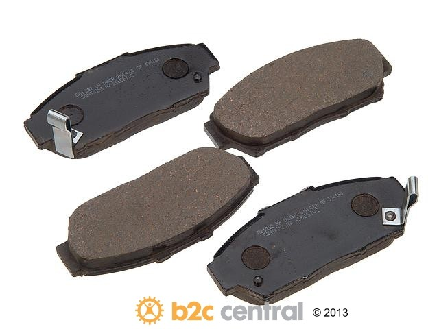 PBR -  Deluxe Brake Pad Set Ceramic w/o Shims (Front) - B2C W0133-1625396-PBR