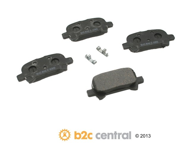 FBS - PBR Deluxe Brake Pad Set w/o Shims (Rear) - B2C W0133-1626149-PBR