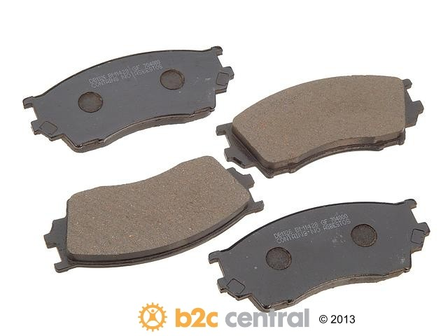 PBR -  Deluxe Brake Pad Set Ceramic w/o Shims (Front) - B2C W0133-1626265-PBR