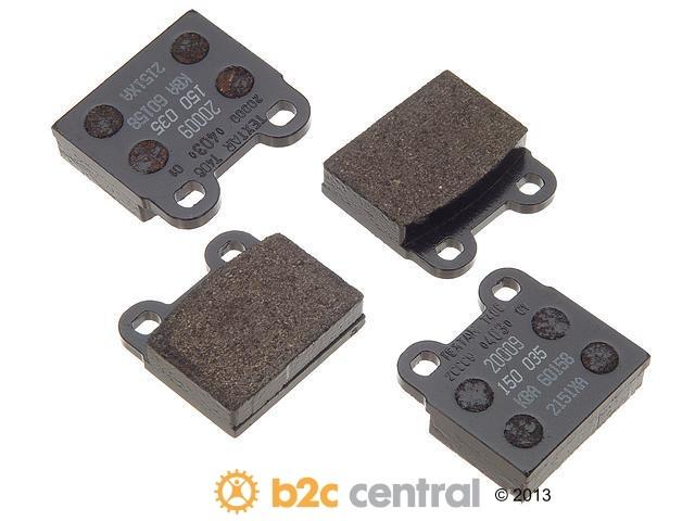 FBS - Textar OE Replacement Brake Pad Set w/ Shims (Rear) - B2C W0133-1626854-TEX