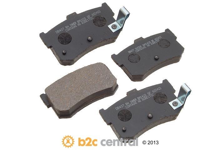 FBS - PBR Deluxe Brake Pad Set Ceramic w/o Shims (Rear) - B2C W0133-1627240-PBR