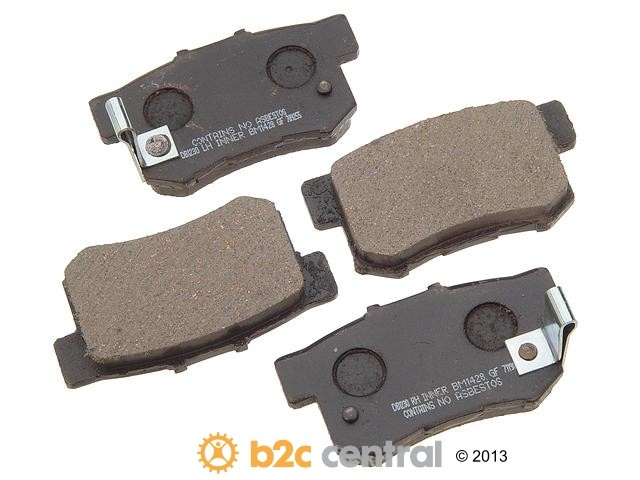 FBS - PBR Deluxe Brake Pad Set w/o Shims (Rear) - B2C W0133-1627436-PBR