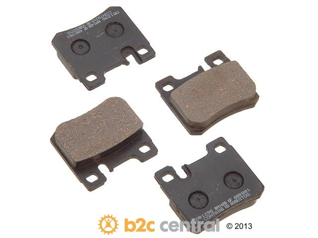 FBS - PBR Deluxe Brake Pad Set w/o Shims (Rear) - B2C W0133-1627551-PBR