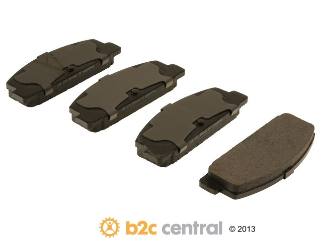 FBS - PBR Deluxe Brake Pad Set Ceramic w/o Shims (Rear) - B2C W0133-1628131-PBR