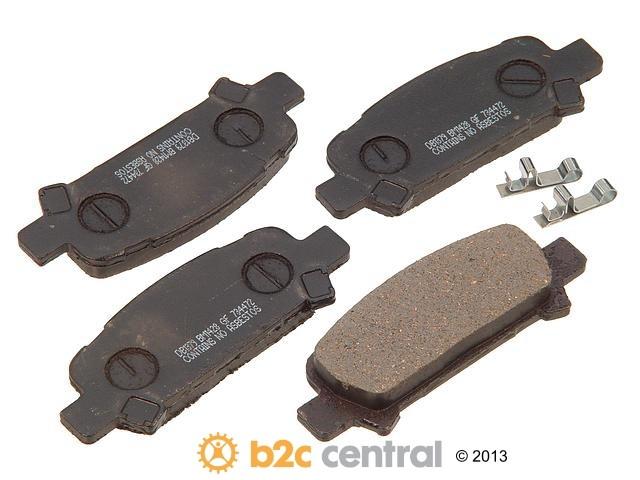 FBS - PBR Deluxe Brake Pad Set Ceramic w/o Shims (Rear) - B2C W0133-1628408-PBR