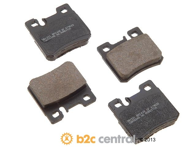 FBS - PBR Deluxe Brake Pad Set w/o Shims (Rear) - B2C W0133-1628482-PBR
