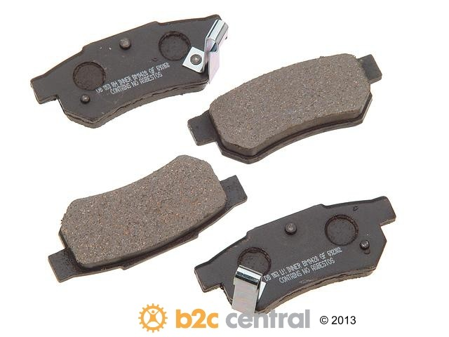 FBS - PBR Deluxe Brake Pad Set w/o Shims (Rear) - B2C W0133-1628572-PBR