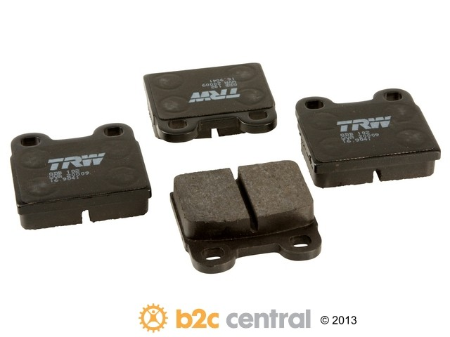 FBS - TRW OE Formulated Brake Pad Set With Shims (Rear) - B2C W0133-1628644-TRW