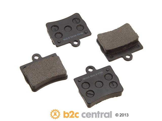 FBS - PBR Deluxe Brake Pad Set w/o Shims (Rear) - B2C W0133-1628674-PBR