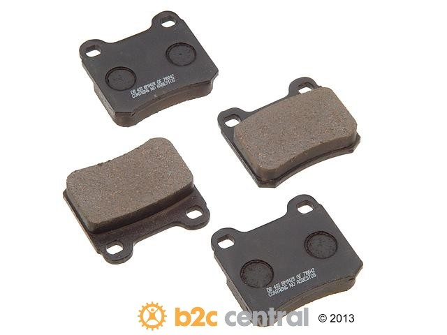 FBS - PBR Deluxe Brake Pad Set w/o Shims (Rear) - B2C W0133-1629139-PBR