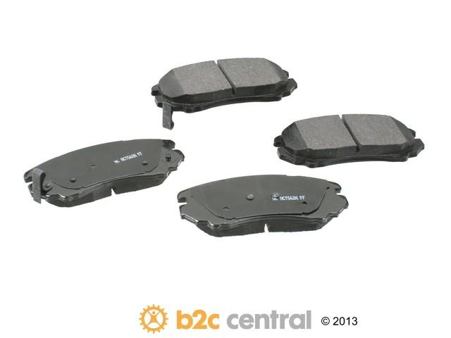 FBS - Akebono PRO-ACT Ultra-Premium Brake Pad Set Ceramic (Front) - B2C W0133-1651009-AKE