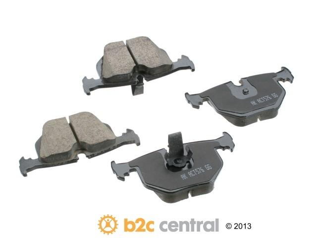 FBS - Akebono EURO Ultra-Premium Brake Pad Set Ceramic (Rear) - B2C W0133-1652202-AKE