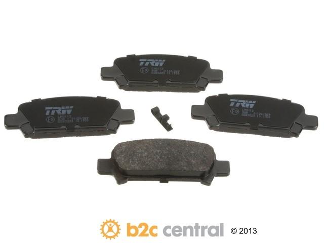 FBS - TRW OE Formulated Brake Pad Set With Shims (Rear) - B2C W0133-1654544-TRW