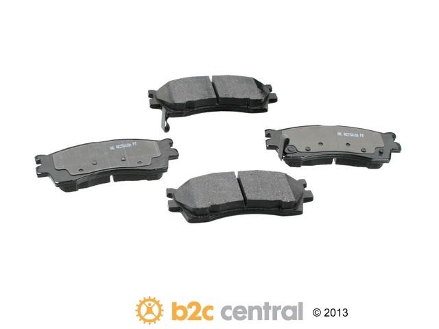 Akebono -  PRO-ACT Ultra-Premium Brake Pad Set Ceramic (Front) - B2C W0133-1658317-AKE
