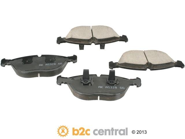 FBS - Akebono EURO Ultra-Premium Brake Pad Set Ceramic - B2C W0133-1664585-AKE