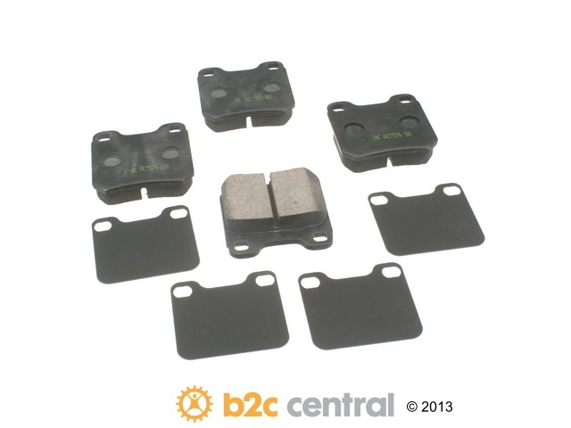 FBS - Akebono EURO Ultra-Premium Brake Pad Set Ceramic (Rear) - B2C W0133-1685872-AKE