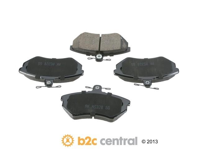 FBS - Akebono EURO Ultra-Premium Brake Pad Set Ceramic (Front) - B2C W0133-1733682-AKE