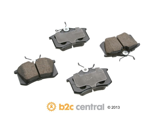 FBS - Akebono EURO Ultra-Premium Brake Pad Set Ceramic (Rear) - B2C W0133-1734516-AKE