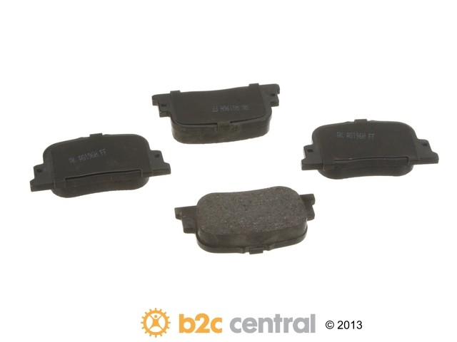 FBS - Akebono PRO-ACT Ultra-Premium Brake Pad Set Ceramic (Rear) - B2C W0133-1738512-AKE