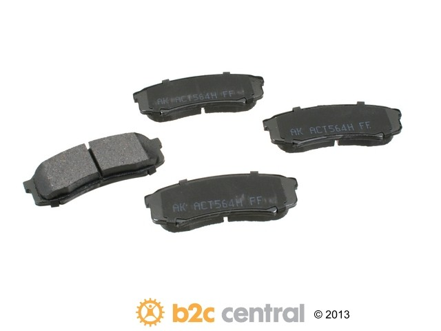 FBS - Akebono PRO-ACT Ultra-Premium OE Brake Pad Set Ceramic (Rear) - B2C W0133-1740406-AKE