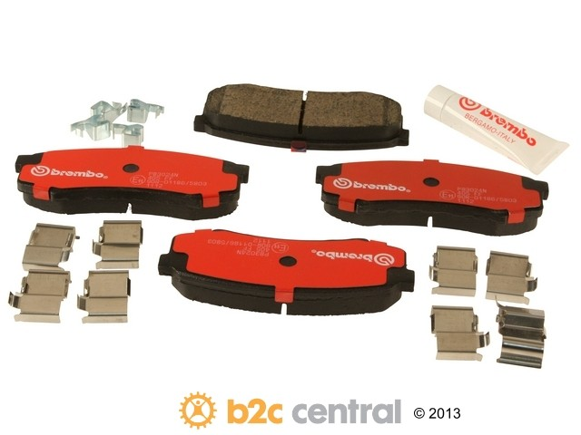 FBS - Brembo Ceramic OE Formulated Brake Pad Set w/ Shims (Rear) - B2C W0133-1741018-BRE