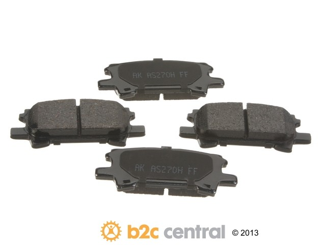 FBS - Akebono PRO-ACT Ultra-Premium Brake Pad Set Ceramic (Rear) - B2C W0133-1742847-AKE