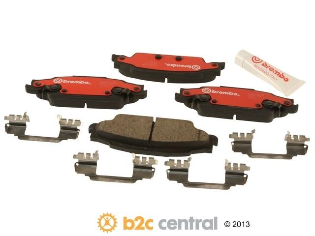 Brembo -  Ceramic OE Formulated Brake Pad Set w/ Shims (Rear) - B2C W0133-1763415-BRE