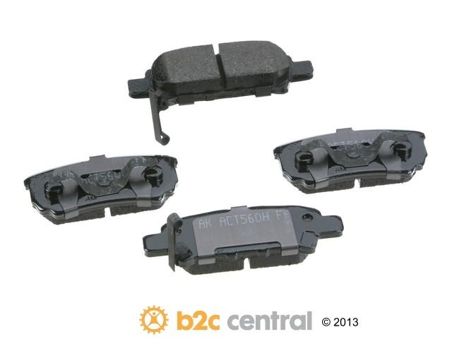 FBS - Akebono PRO-ACT Ultra-Premium OE Brake Pad Set Ceramic (Rear) - B2C W0133-1767085-AKE