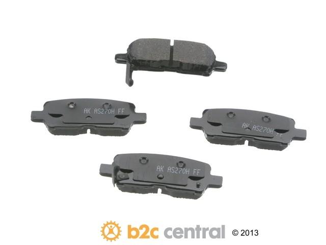 FBS - Akebono PRO-ACT Ultra-Premium Brake Pad Set Ceramic (Rear) - B2C W0133-1767686-AKE